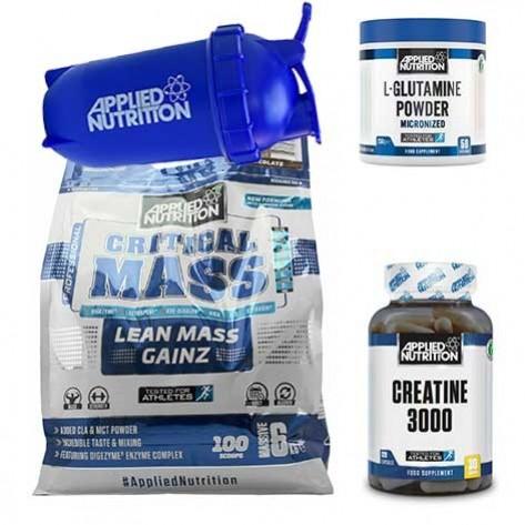 Applied Nutrition Original Critical Mass (6 kg) + 250g Glutamin + 250 g Creatin+Shaker