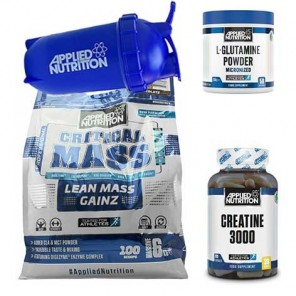 Applied Nutrition Original Critical Mass (6 kg) + 250g Glutamin + 250 g Creatin+Shaker
